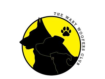 The Wary Woofers Club image branding vector illustration dog logo design