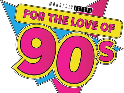 For the love of 90s event convention 90s illustration branding vector logo design