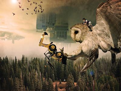 Save Nature globalwarming world saved nature owl photoshop photoshop art photomanipulation image design