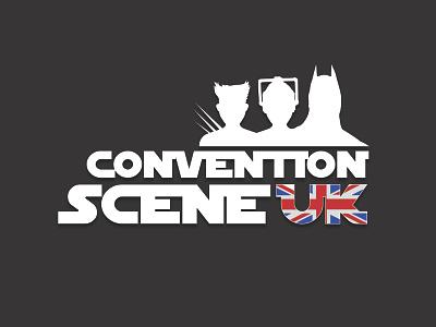 Convention Scene UK - Logo movies tv dc marvel geek science fiction horror comic art united kingdom illustration branding design vector branding logo image design uk scene convention