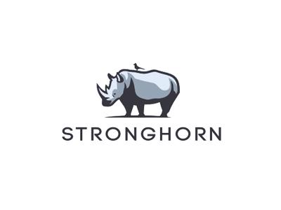 Stronghorn logo horn bird rhino safari