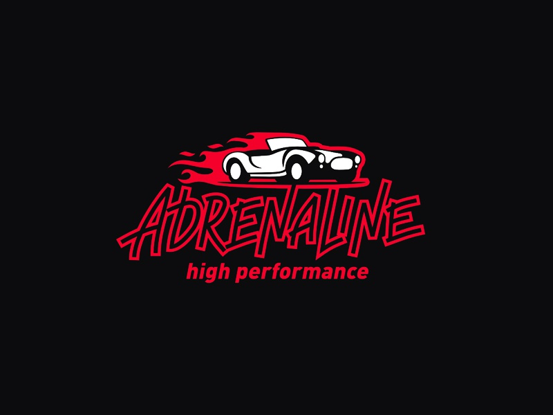 Adrenaline HP logo car high performance adrenaline cobra fire