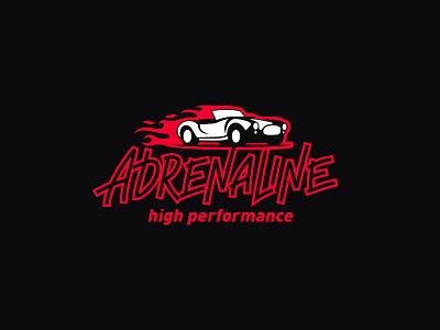 Adrenaline HP logo car high performance adrenaline cobra fire
