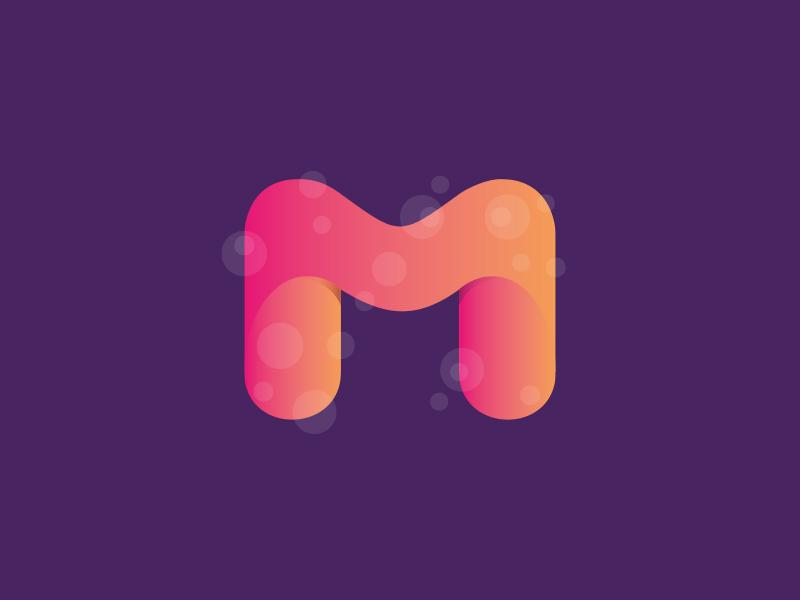 M Letter m logo letter