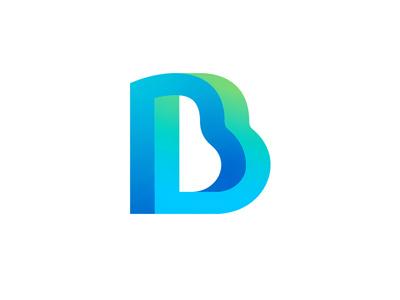 Bankomat logo concept crypto exchange letter b logo