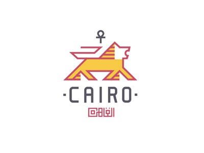 Cairo cairo pyramide lion beer logo