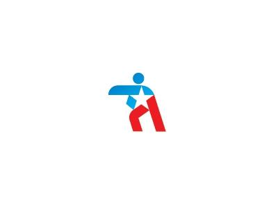 Army fighter star fighter logo battle
