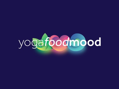 Yoga – Food – Mood icon typography letter illustration logo