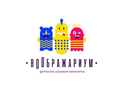 Imaginarium illustration letter logo
