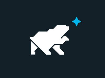 Polar bear geometic star north polar bear vector illustration unused logo