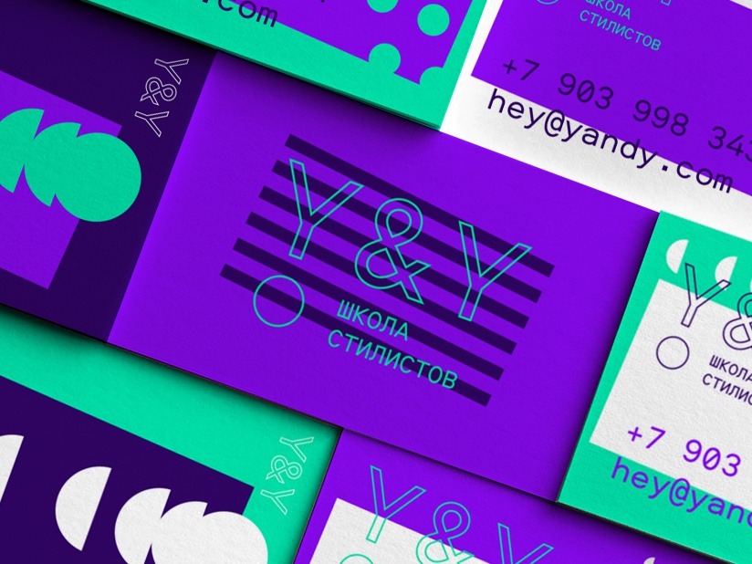 Y&Y design lettering letter logo