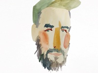 Watercolor Portrait of a Friend