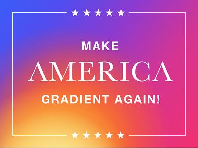 Make America Gradient Again™ usa gradient filson america