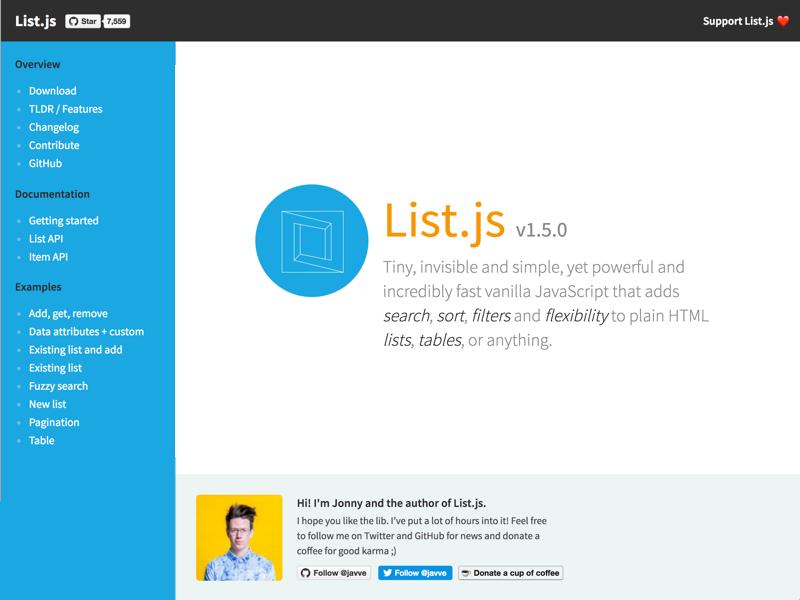 List Pagination Javascript
