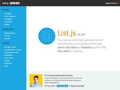 List.js site update website
