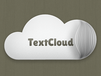 TextCloud Logotype cloud logo text paper web service