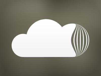 TextCloud Logotype - One color cloud logo clean simple symbol