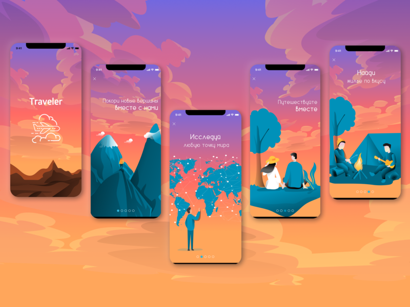 Onboarding Travel App app vector ui illustration design