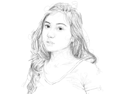 Scribble portrait marsha