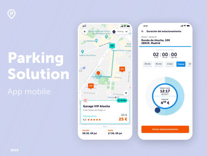 Parking Solution - App mockup app mobile parking app ui design ux design ux  ui app design app