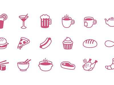 Free Food Icon Set food icons tea drink soup ramen burger pizza steak free categories