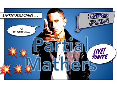 Marshall pun event live poster gig promo slim shady rapper rap tribute band name tribute act tribute band cover version eminem
