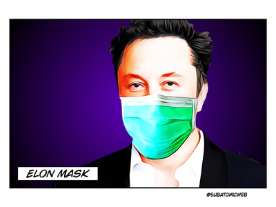 Elon spacex tesla virus ppe covid19 coronavirus mask elon musk