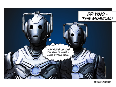 Cybermen galaxy the doctor tin men tin man audition broadway show west end musical cyberman the cybermen doctor who dr who