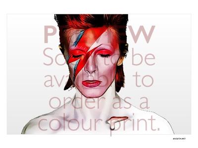 Ziggy framing print halftoon pop art thin white duke spiders from mars ziggy stardust david bowie