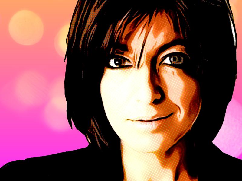 Claudia comic spider radioactive presenter tv host winkleman claudia strictly