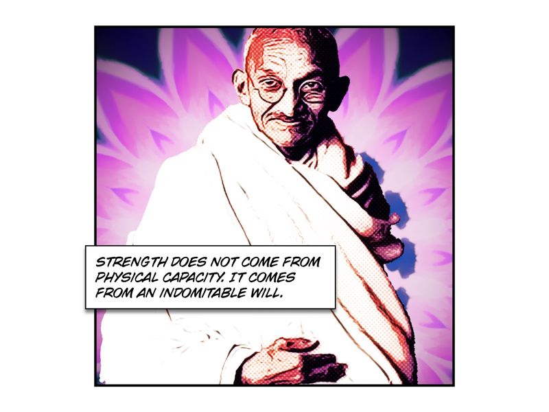 Mohandas will strength british rule colonial empire independence india ghandi