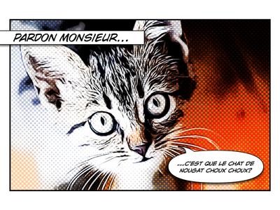 Nougat comic art en francais nougat home choo chatanooga cat chat