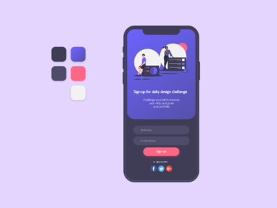 Daily UI Design Challenge #001 - Sign Up