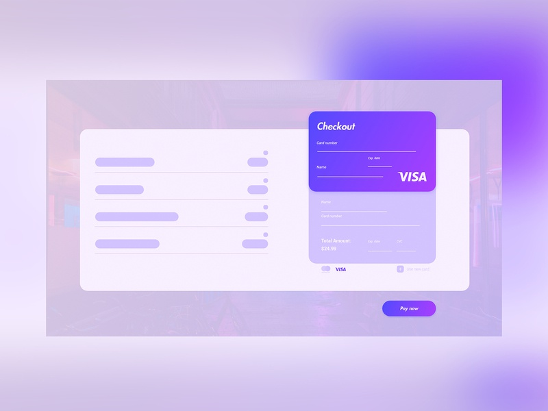 Daily UI Design Challenge #002 - Credit Card Checkout creditcard credit card checkout credit card daily 100 challenge 002 ui signup design dailyui daily challenge