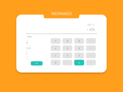 Daily UI Design Challenge #004 - Calculator