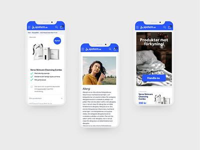 Apohem web design shopping webshop pharmacist pharmacy moststudios most blue mobile ui mobile identity webdesign