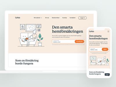 Gofido web design webdesign design web ux startup insurance responsive webb design webb ui branding most studios most
