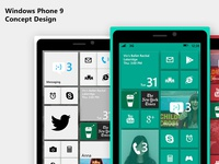 Windows Phone 9 concept design
