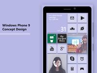Windows Phone 9 concept design