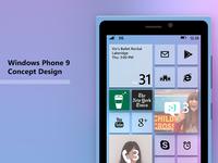 Windows Phone 9 concept design - ice cream