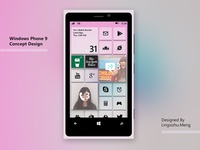 Windows Phone 9 concept design - ice cream