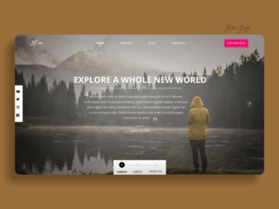 Landing page screen | UI Design