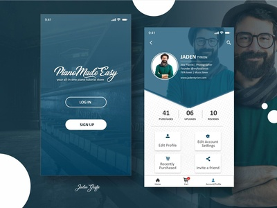Landing Page And Profile Screen
