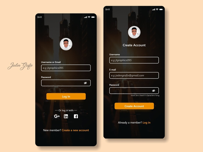 Sign Up And Login Screen ui ux uiux uidesign uxdesign uidesign uiux uxdesign adobexd ui uxdesign webdesign ui ux uiux sketchapp adobexd