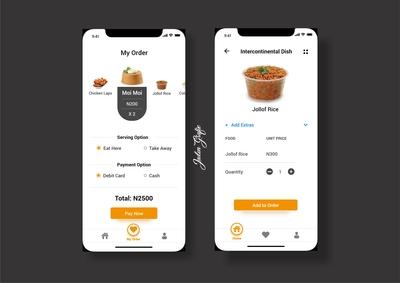 Restaurant Mockup (More Screens)