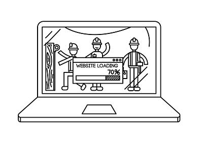 Website Loading Illustration website web minimal illustrator flat vector design illustration