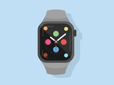 AppleWatchSeries4 design vector illustration