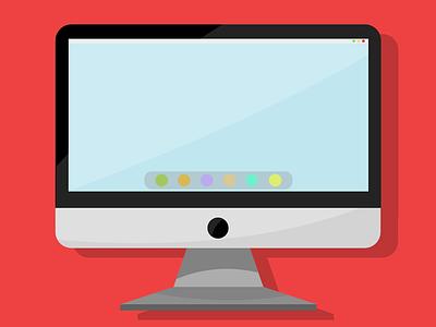 IMac vector design illustration