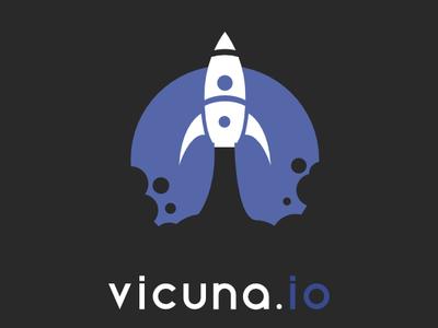 vicuna.io Logo web logo vector illustration design