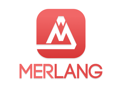 Merlang minimal branding flat web logo vector illustration design